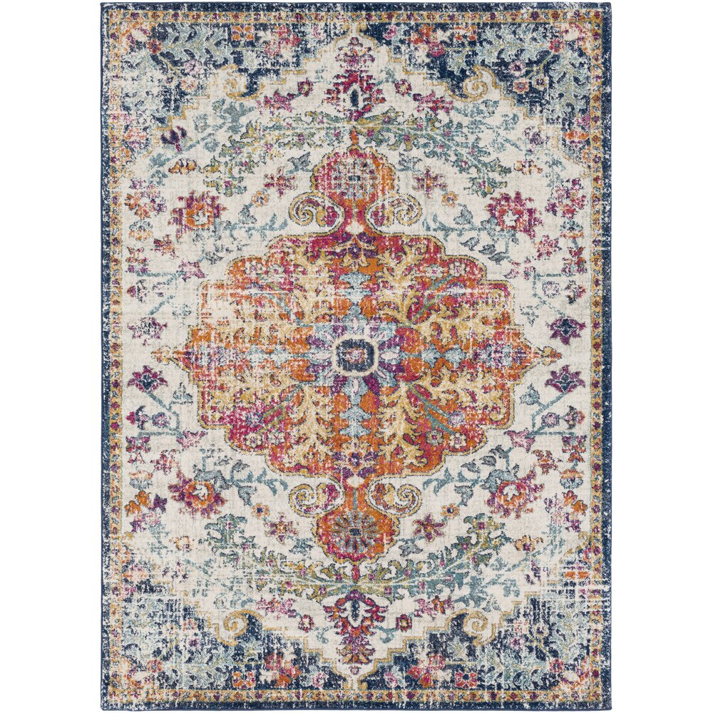 Bungalow Rose Andover Saffron Blue Area Rug Amp Reviews