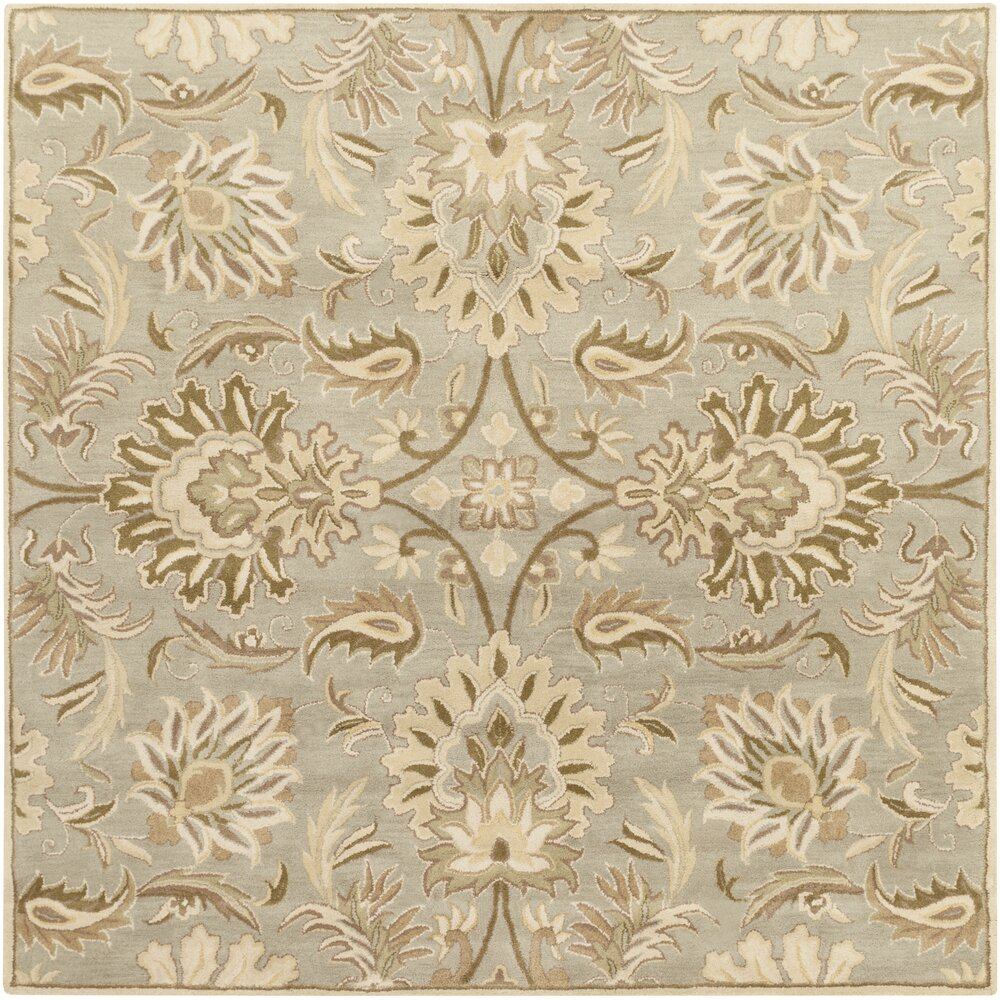 Charlton Home Camden Turtle Green Floral Area Rug