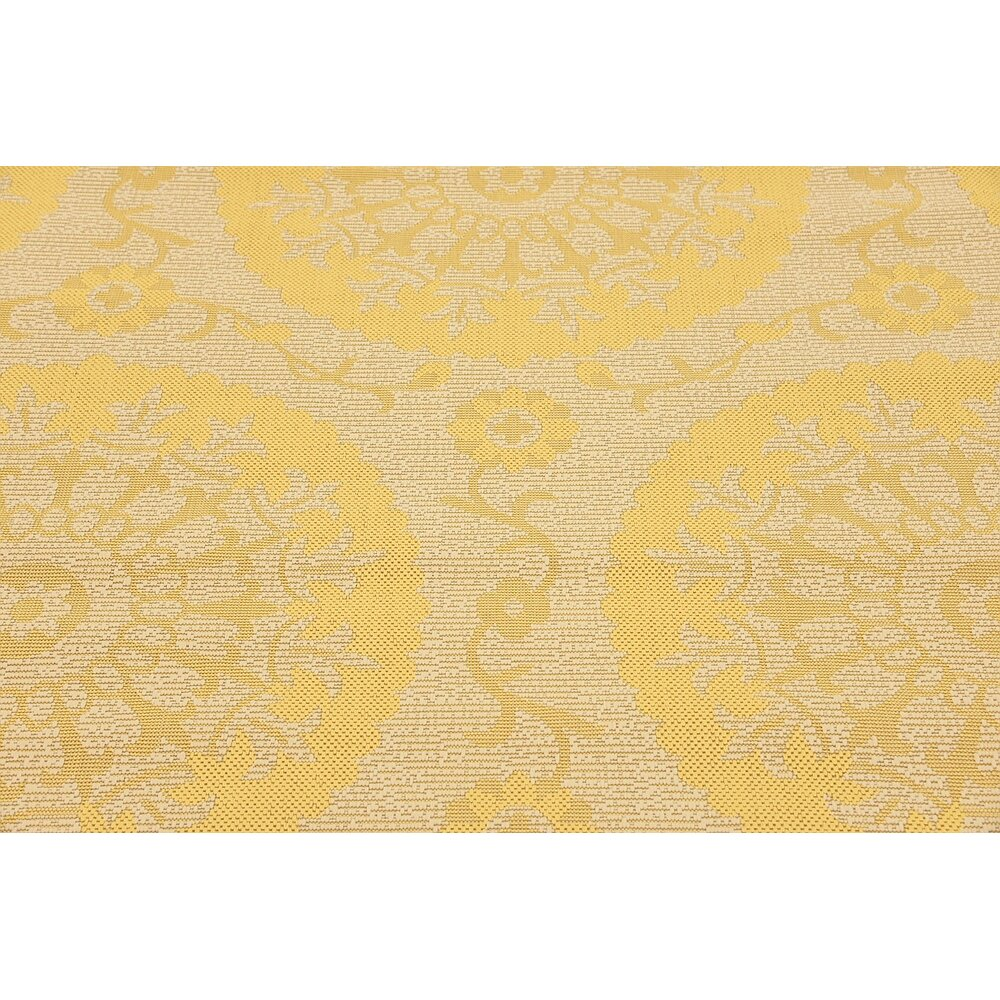 Arabian Yellow Indoor Outdoor Area Rug & Reviews