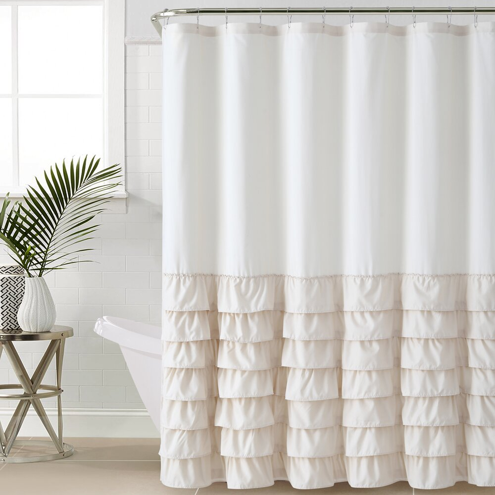 Shower Curtains Youll Love Wayfair - Brown and white striped shower curtain