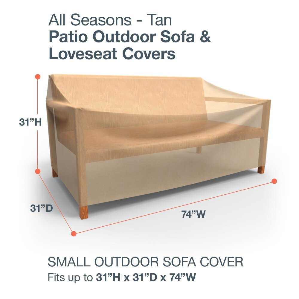 budgeindustries all seasons small outdoor sofa cover for