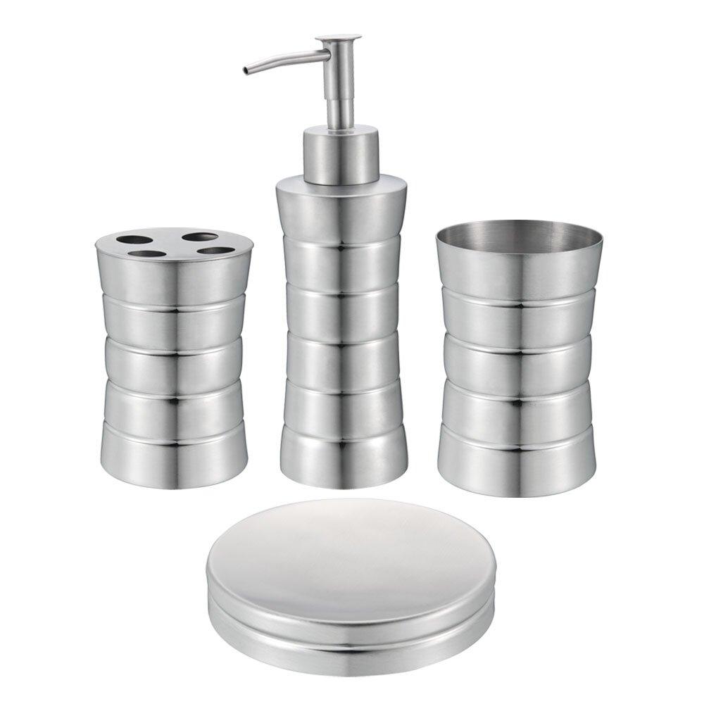 4 Piece Bathroom Accessory Set Rebrilliant 4 Piece Bathroom Accessory Set Reviews Wayfair