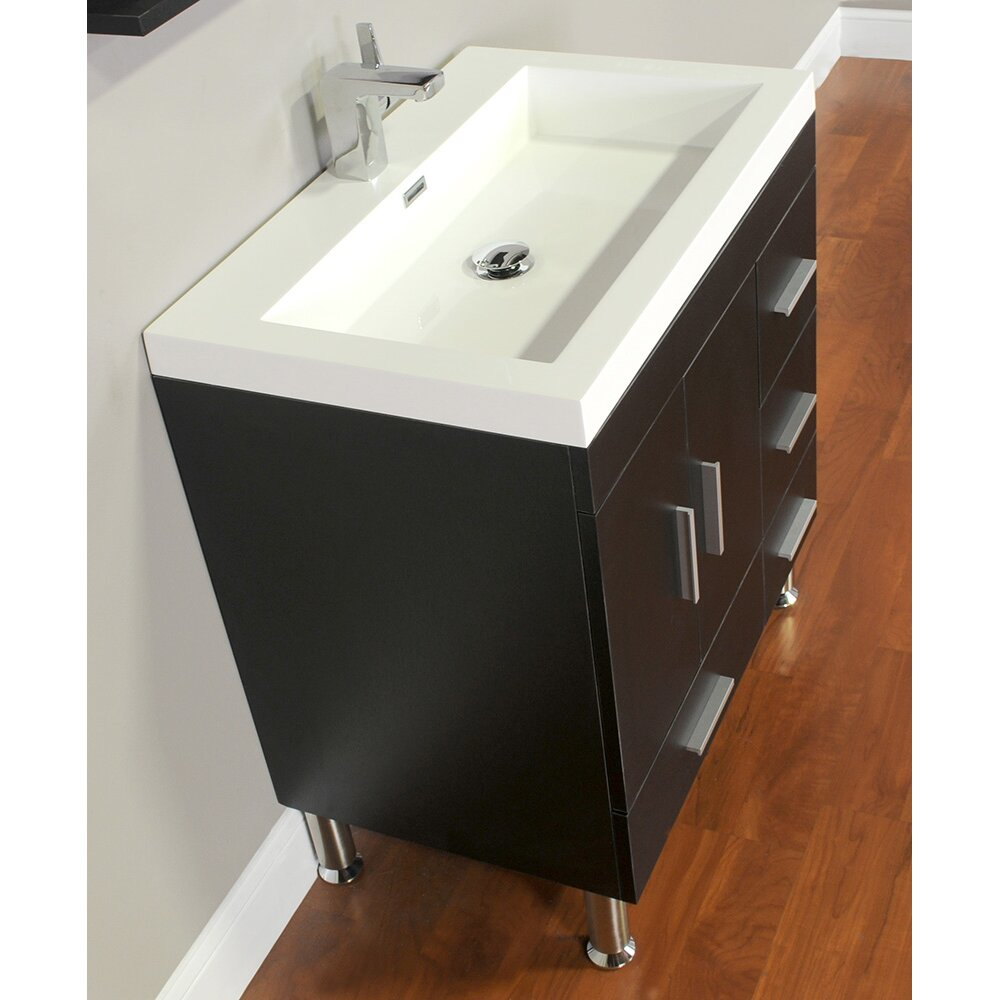Wade logan waldwick 30 single modern bathroom vanity set reviews - Kona modern bathroom vanity set ...