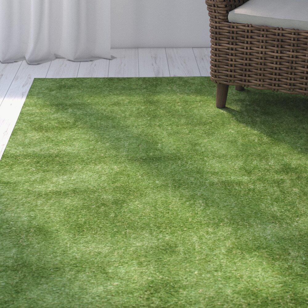parkton artificial grass green area rug