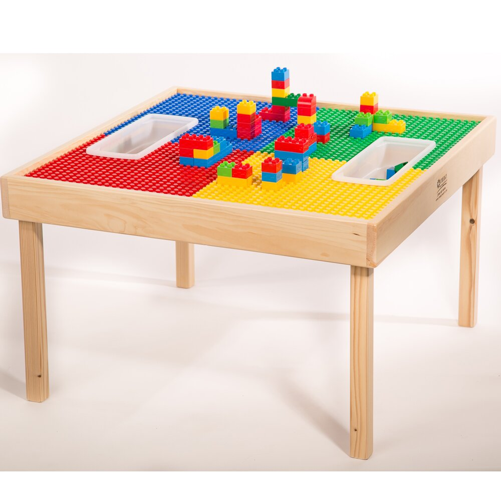 zoomie kids multi activity kids square lego table. Black Bedroom Furniture Sets. Home Design Ideas