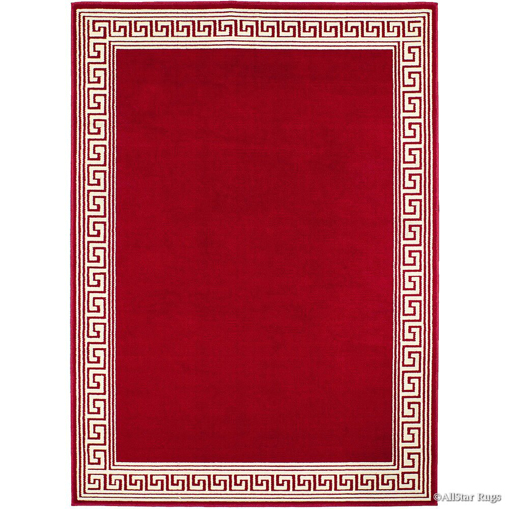 Allstar rugs red cream area rug reviews wayfair for Cream and red rugs