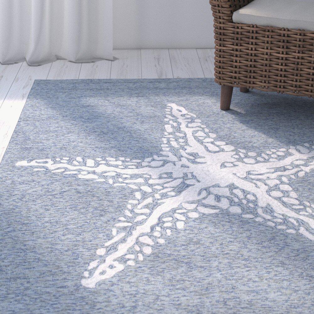 Beachcrest home bloomfield dark blue indoor outdoor area for Blue indoor outdoor rug