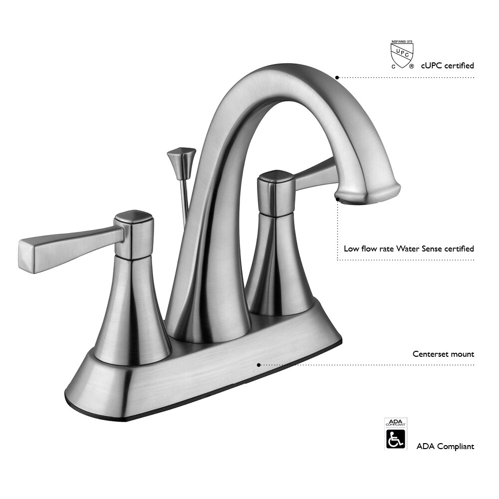 Design House Saratoga Double Handle Centerset Standard Bathroom Faucet Wayfair