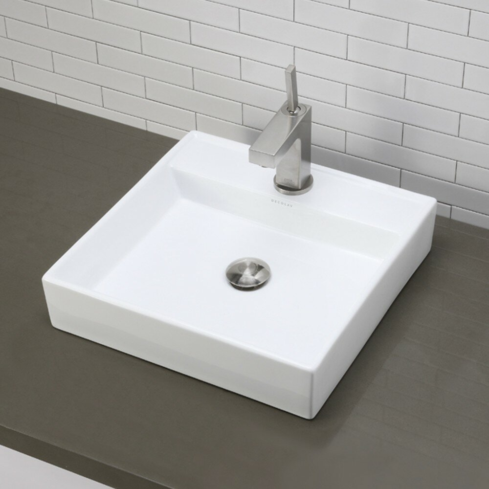 Decolav Classically Redefined Square Vessel Bathroom Sink