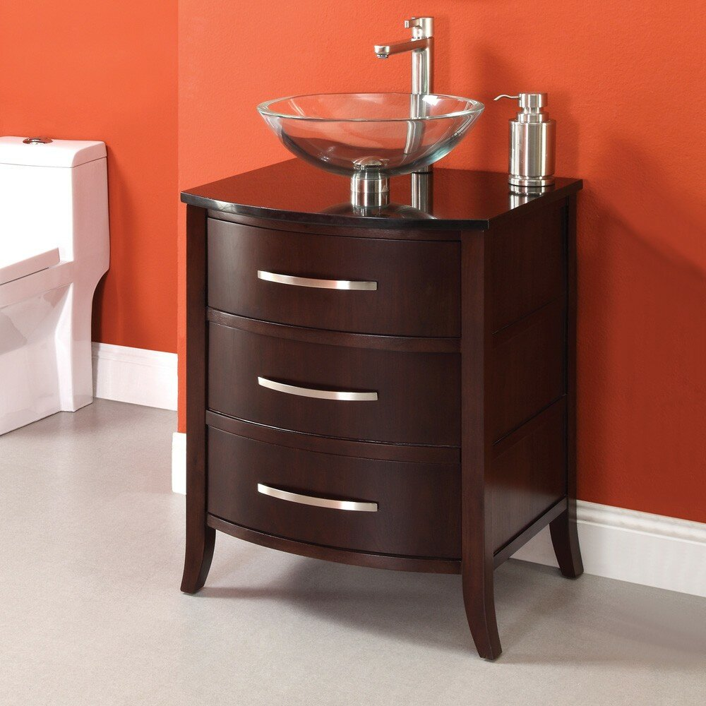 decolav lola 25 single bathroom vanity set reviews wayfair. Black Bedroom Furniture Sets. Home Design Ideas