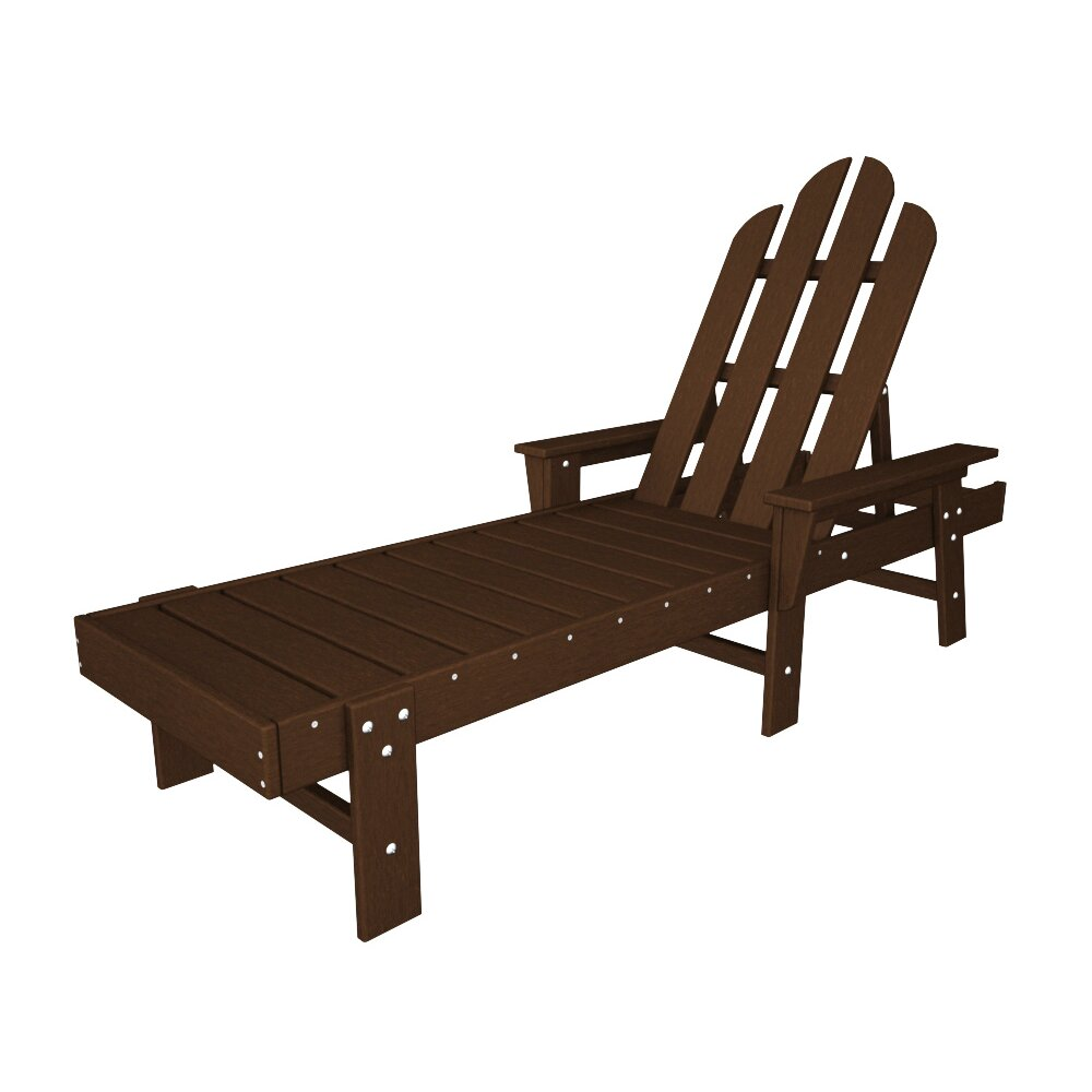 POLYWOOD Long Island Chaise Lounge  Reviews Wayfair - Outdoor furniture long island
