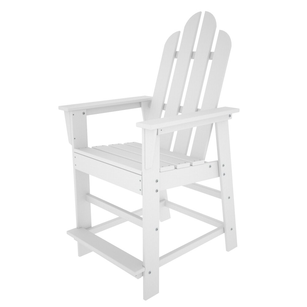 POLYWOOD Long Island Counter Chair  Reviews Wayfair - Outdoor furniture long island