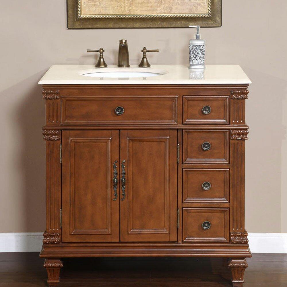 silkroad exclusive esther 36 single bathroom vanity set reviews wayfair. Black Bedroom Furniture Sets. Home Design Ideas