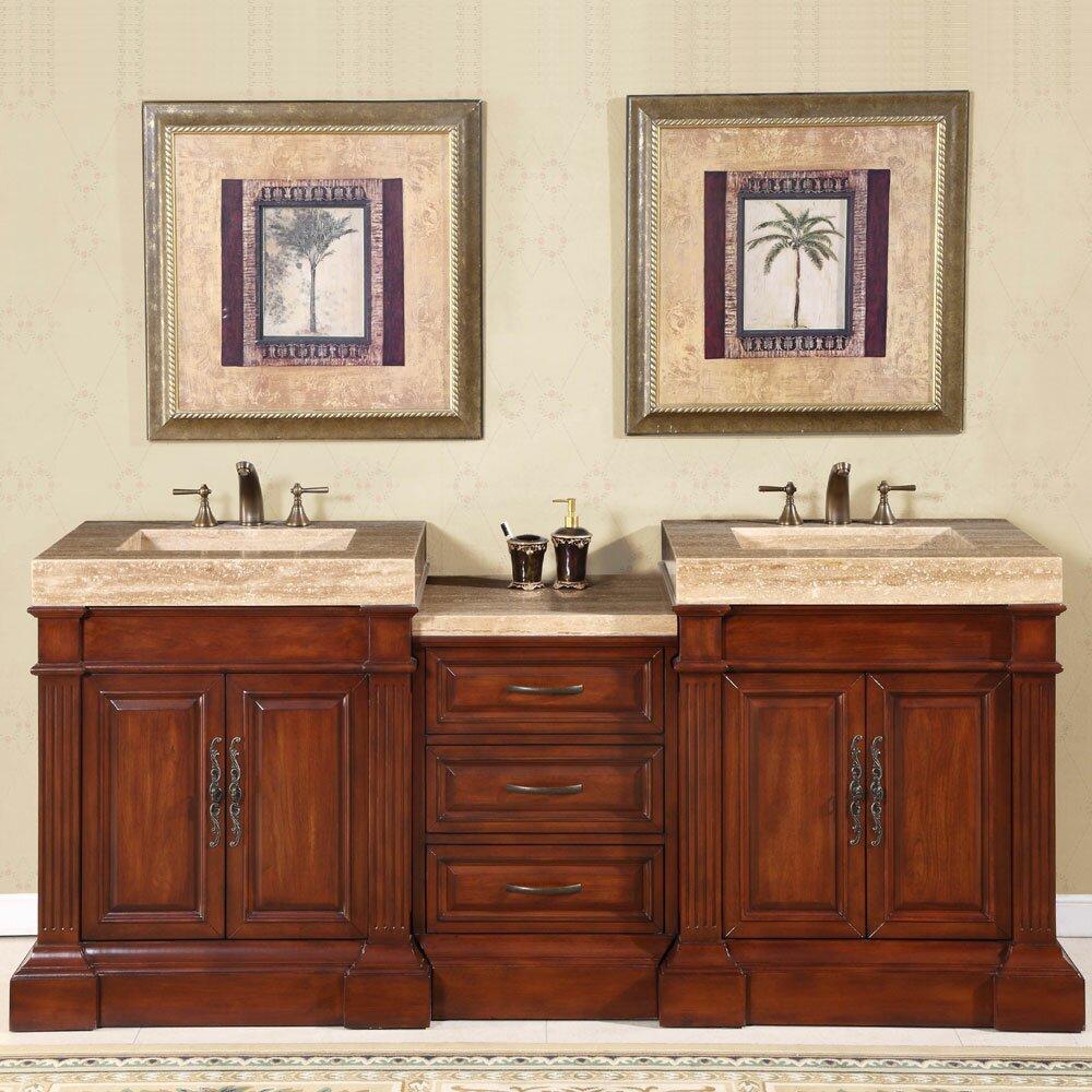 Double bathroom vanity - Stanton 83 Double Bathroom Vanity Set