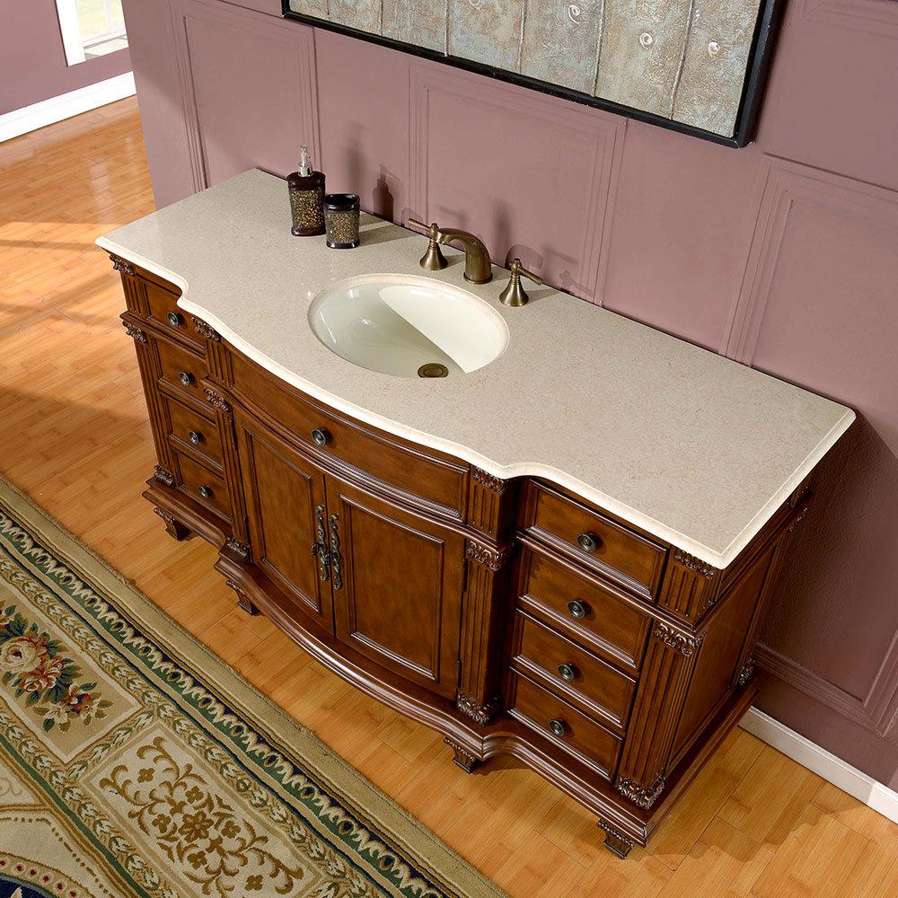 silkroad exclusive esther 60 single bathroom vanity set reviews wayfair. Black Bedroom Furniture Sets. Home Design Ideas