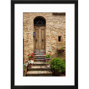 \u0027Doorway with Flowers Pienza Tuscany Italy\u0027 Framed Photographic Print  sc 1 st  Wayfair & Fleur De Lis Living Photography You\u0027ll Love | Wayfair