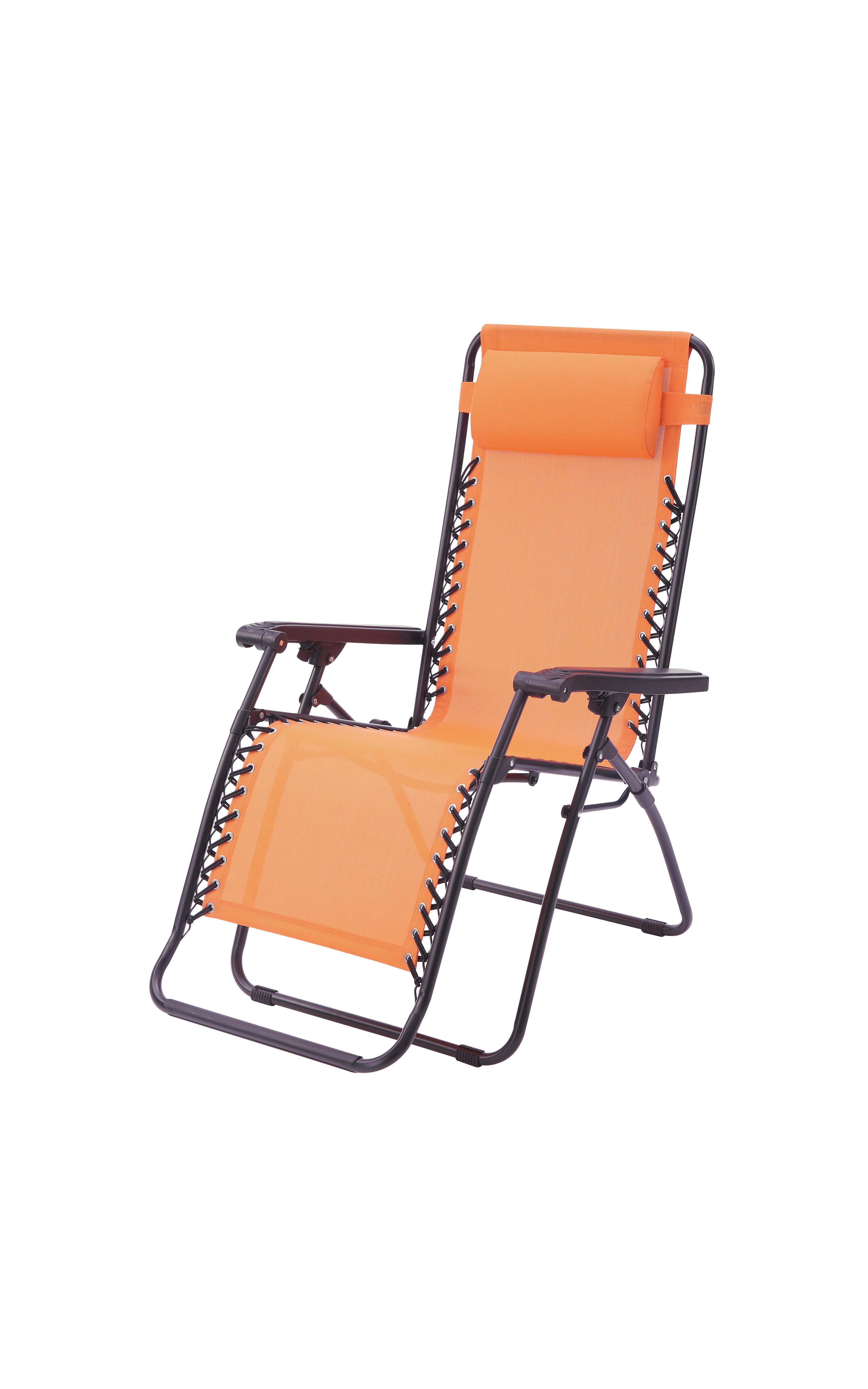 Poundex Lizkona Gavin Zero Gravity Patio Lounge Chair with Cushion