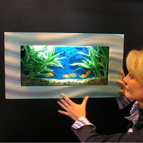 aussie 25 gallon wall mounted aquarium tank