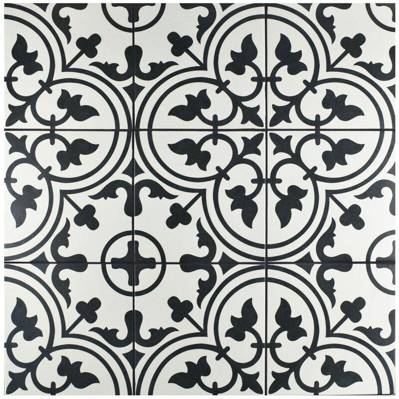 "EliteTile Artea 9.75"" X 9.75"" Porcelain Field Tile In"