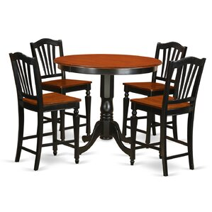Trenton 5 Piece Counter Height Pub Table Set by..