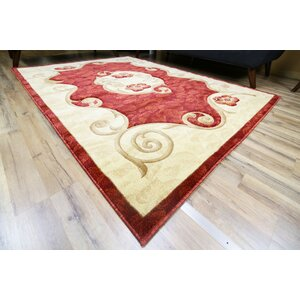 Rosa Red/Cream Area Rug