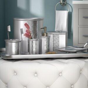 Rivet 6 Piece Silver Bathroom Accessory Set