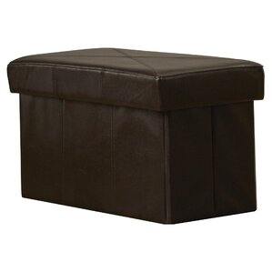 Chatham Leather Storage Ottoman by Alcott Hill