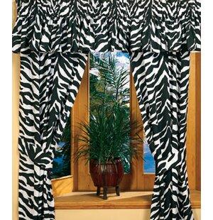 Zebra Curtain Panels Set Of 2