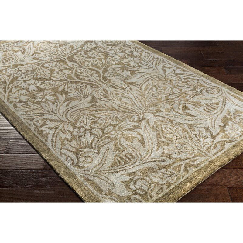 Alcott Hill Acton Hand-Knotted Sea Foam Area Rug, Size: Rectangle 8 x 10