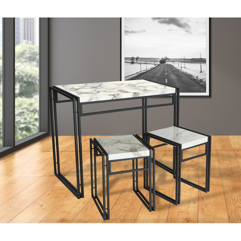 Debby Small Space 3 Piece Dining Set