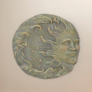 Polyresin Sun And Moon Wall Décor