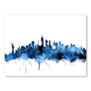 new york skyline wall mural wayfair