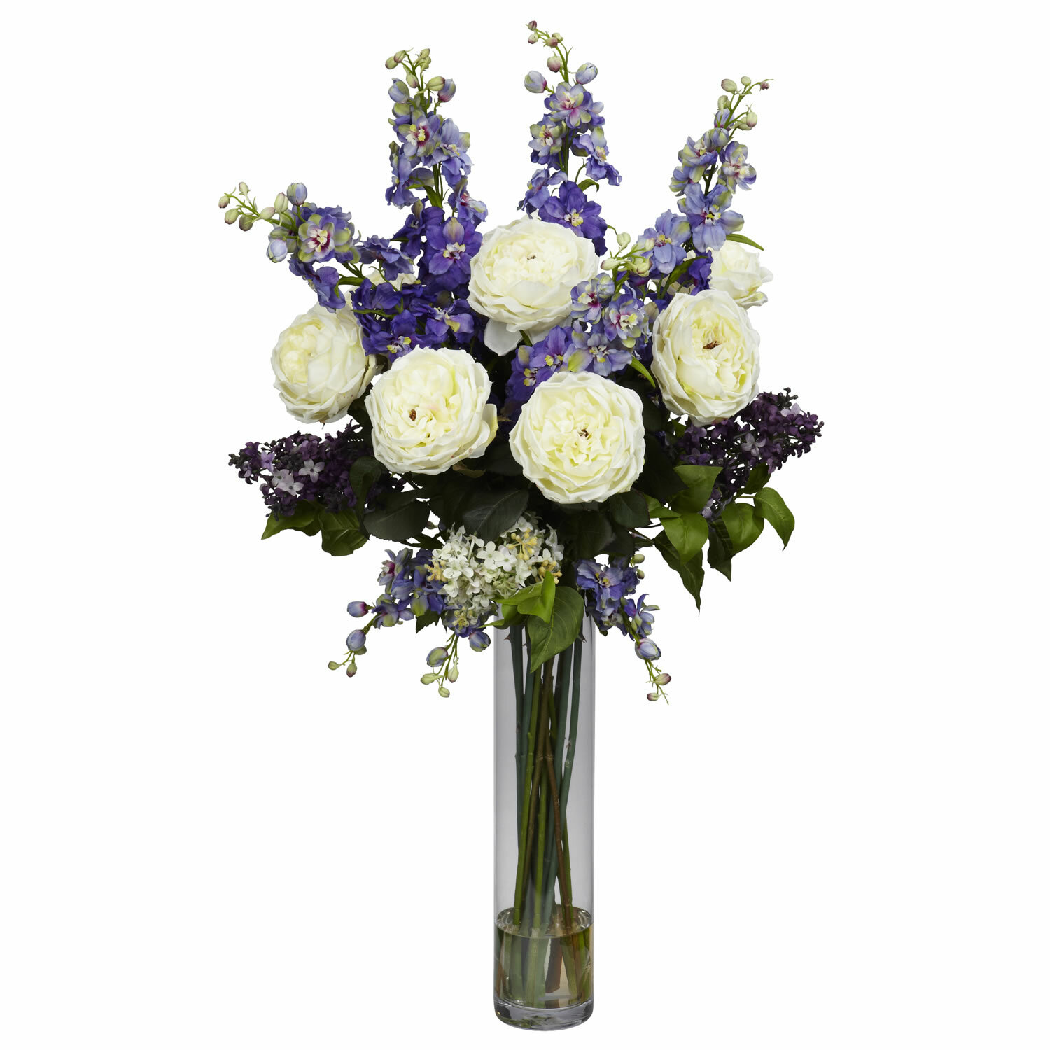 Rose delphinium and lilac silk floral arrangement reviews birch rose delphinium and lilac silk floral arrangement reviews birch lane mightylinksfo