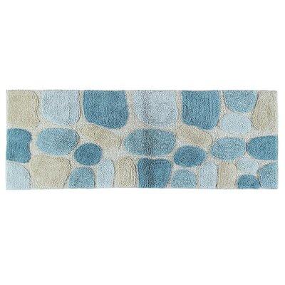 Ebern Designs Creline Bath Rug Color: Aquamarine