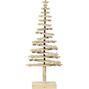 beige artificial christmas tree with stand