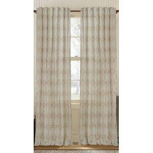 Crown Geometric Semi-Sheer Rod Pocket Single Curtain Panel