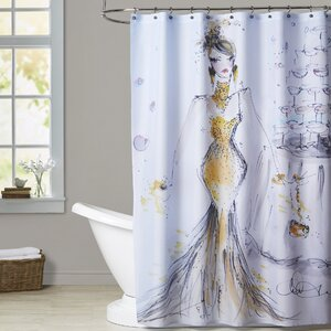 Lone Oak Champagne Bubbles Shower Curtain