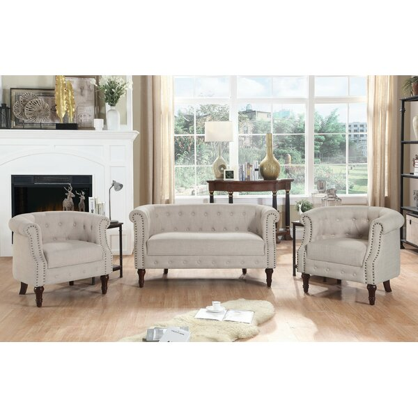 Beau Alcott Hill Kelty 3 Piece Living Room Set U0026 Reviews | Wayfair