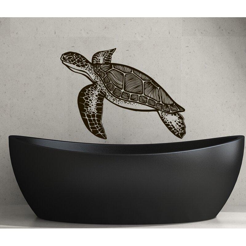 Turtle Bathroom Wall Decal