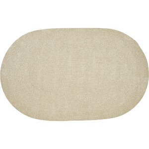Chenille Reversible Beige Indoor/Outdoor Area Rug