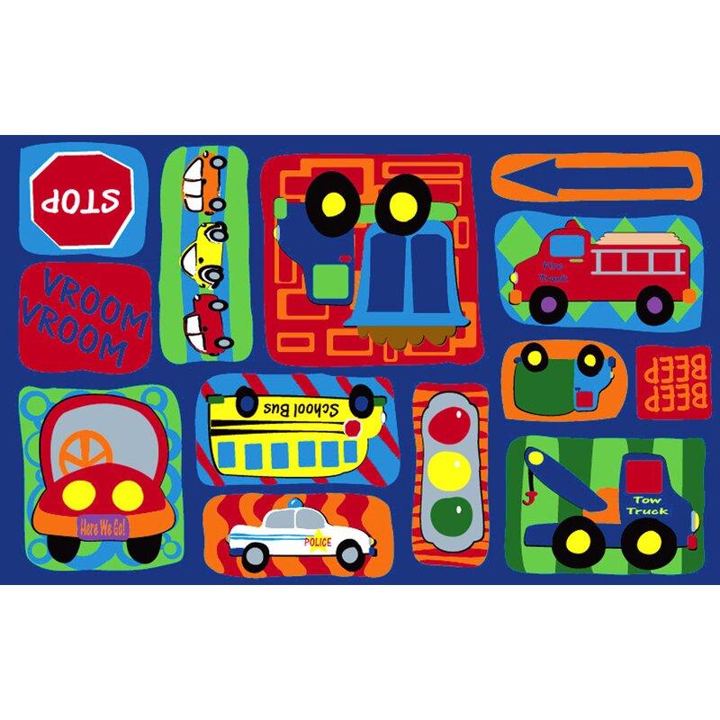 Kid Carpet Vroom Vroom Car Play Area Rug & Reviews