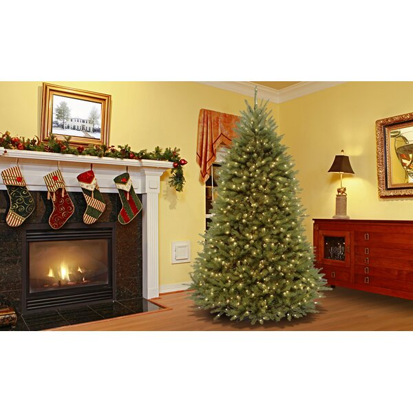 Mercer41 Fir 7.5' Hinged Artificial Christmas Tree with Lights ...