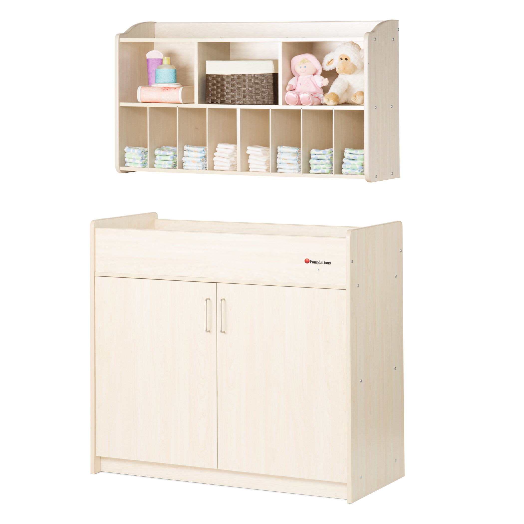 1c9361443f55 Foundations SafetyCraft 2 Piece Changing Table Set | Wayfair