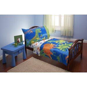 kaia dinosaurs 4 piece toddler bedding set