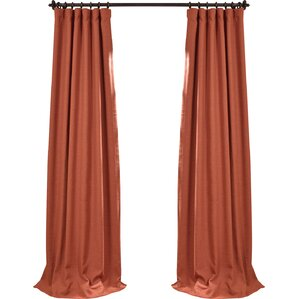 Freemansburg Solid Blackout Thermal Rod Pocket Single Curtain Panel