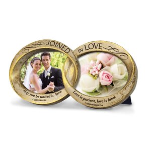 Joined in Love Wedding Rings Picture Frame