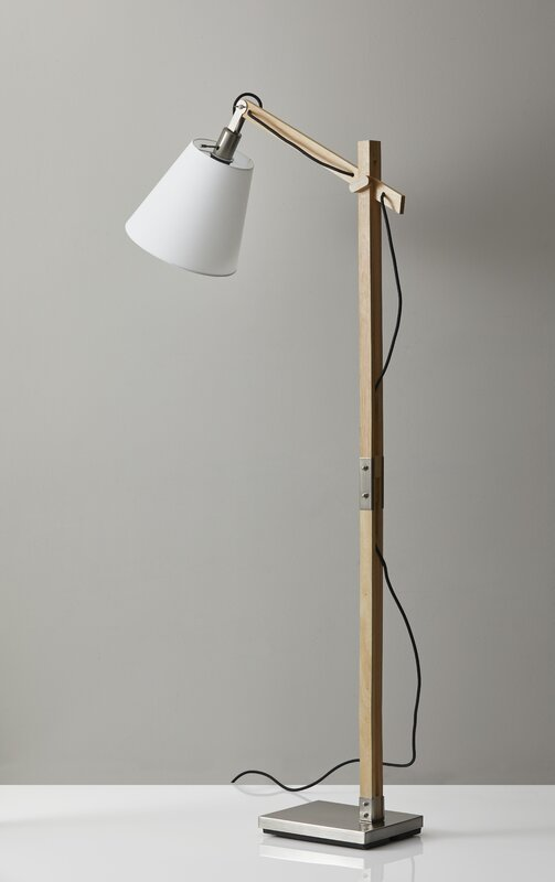 Puppis 61 task floor lamp reviews allmodern puppis 61 task floor lamp mozeypictures Image collections
