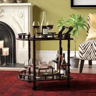 Zabala 2 Tier Wine Bar Cart