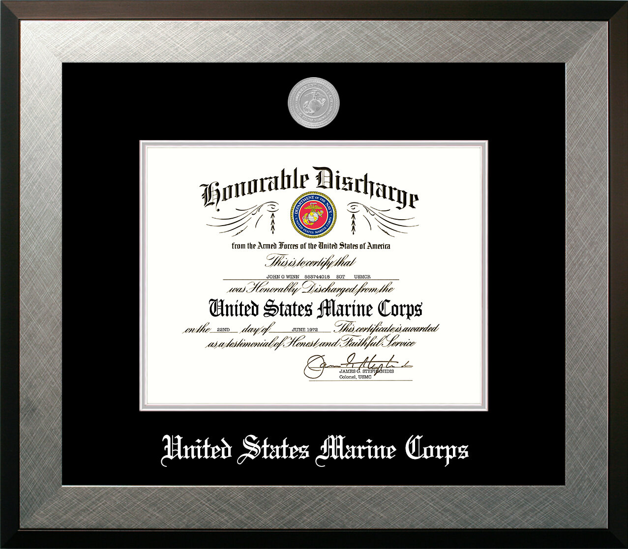 PATF Marine Discharge Honor Picture Frame | Wayfair