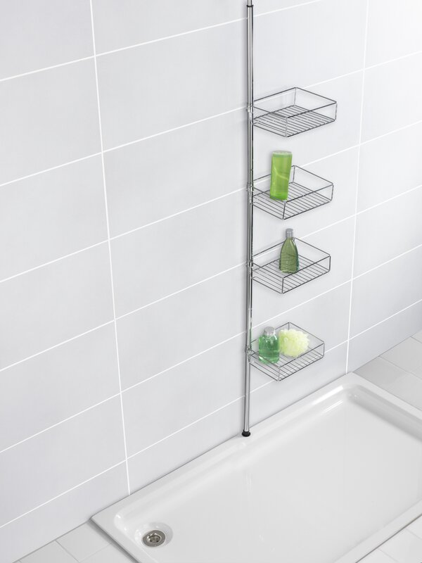 Wenko Domaso Telescopic Metal Wall Mounted Shower Caddy & Reviews ...